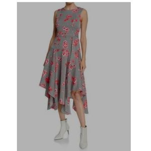 Calvin Klein Striped Woven Midi Dress Size 8